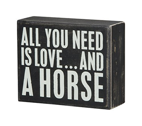 "all You Need is Love and a Horse Box Sign, 5"" x 4"" - Calico Trails at Clear Creek Farm"