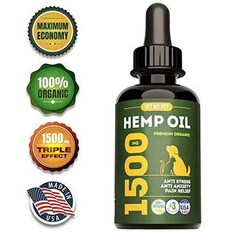 Hemp Oil for Dogs - 1500mg