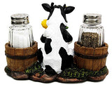 Milk Cow Decorative Glass Salt And Pepper Shakers Holder - Calico Trails at Clear Creek Farm