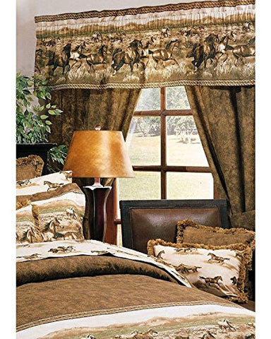 Wild Horses Rod Pocket Curtains: One Size - Calico Trails at Clear Creek Farm
