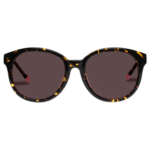 Le Specs Female Fantasy Alt Fit  Tort Round Rx Sunglasses