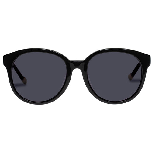 Le Specs Female Fantasy Alt Fit  Black Round Rx Sunglasses