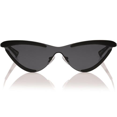 Le Specs The Scandal Womens Black Cat-Eye Sunglasses