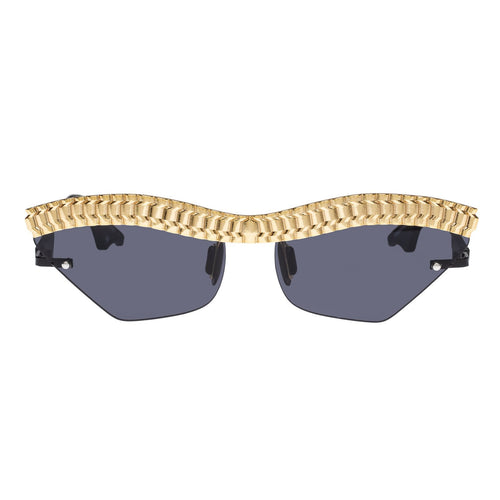 Le Specs Female Watch Out  Black Cat-Eye Sunglasses