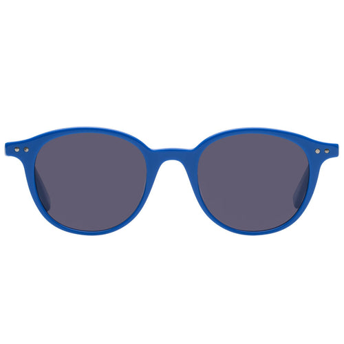 Le Specs Equinox Uni-Sex Blue Round Prescription Ready Sunglasses