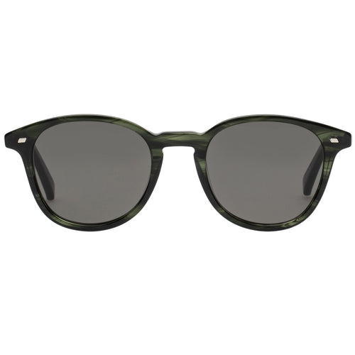 Le Specs Bandeau Mens Khaki Round Prescription Ready Sunglasses
