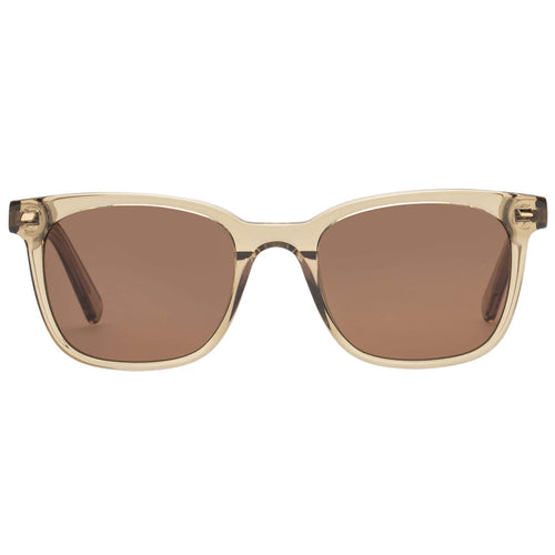 Le Specs Le Saloon Uni-Sex Tan Modern Rectangle Prescription Ready Sunglasses