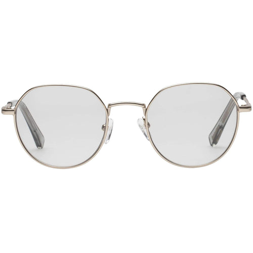 Le Specs Drifter Womens Gold Round Prescription Ready Sunglasses