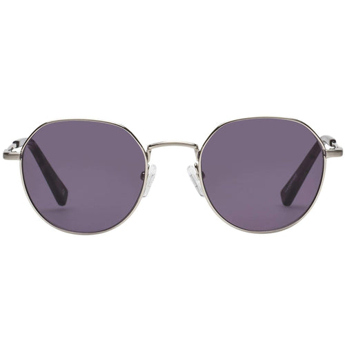 Le Specs Drifter Uni-Sex Silver Round Prescription Ready Sunglasses