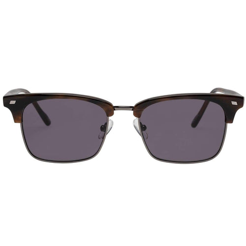Le Specs Jiver Uni-Sex Brown Modern Rectangle Prescription Ready Sunglasses