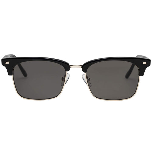 Le Specs Jiver Uni-Sex Black Modern Rectangle Prescription Ready Sunglasses