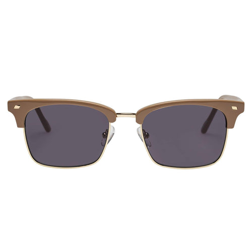 Le Specs Jiver Uni-Sex Tan Modern Rectangle Prescription Ready Sunglasses