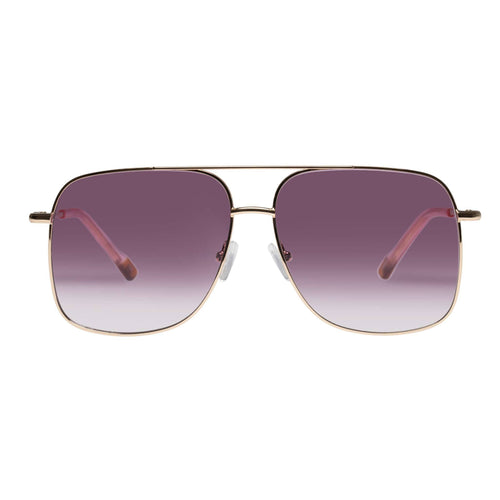 Le Specs Equilateral Uni-Sex Gold Aviator Prescription Ready Sunglasses