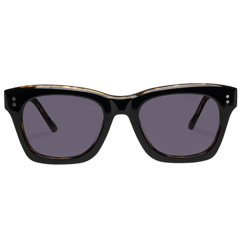 Le Specs Fortitude Uni-Sex Black Modern Rectangle Prescription Ready Sunglasses