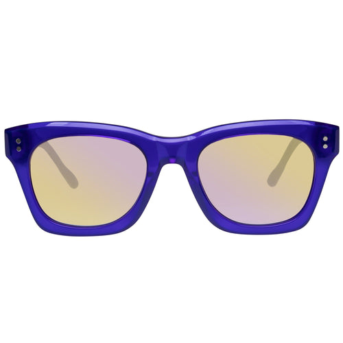 Le Specs Fortitude Uni-Sex Blue Modern Rectangle Prescription Ready Sunglasses