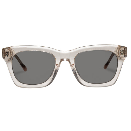 Le Specs Fortitude Uni-Sex Tan Modern Rectangle Prescription Ready Sunglasses