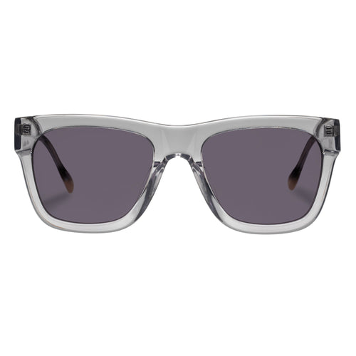 Le Specs Wrecking Ball Uni-Sex Grey Modern Rectangle Prescription Ready Sunglasses