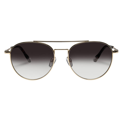 Le Specs Savage Uni-Sex Gold Aviator Prescription Ready Sunglasses