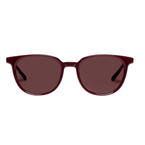 Le Specs Nomad Burgundy Round Prescription Ready Sunglasses Nomad Burgundy Lsh2026368