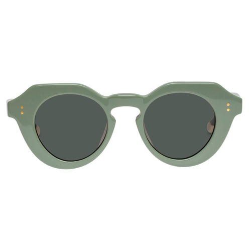 Le Specs Female Capella Green Round Prescription Ready Sunglasses