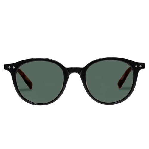 Le Specs Uni-Sex Equinox Black Round Prescription Ready Sunglasses