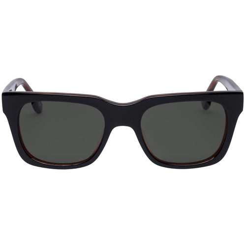 Le Specs Fellini Uni-Sex Black Modern Rectangle Sunglasses