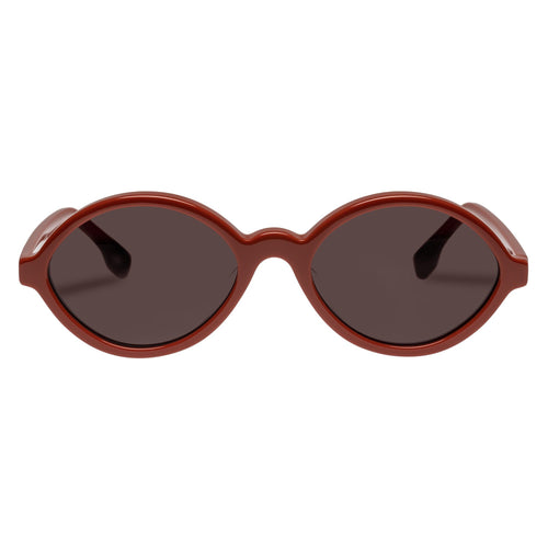 Le Specs Impromtus Womens Red Oval Sunglasses