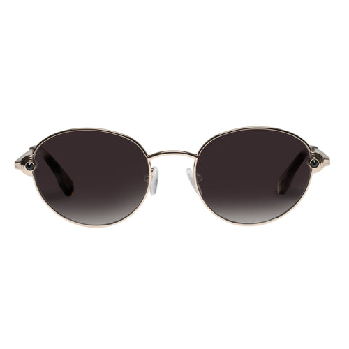 Le Specs Vamp Womens Gold Round Sunglasses