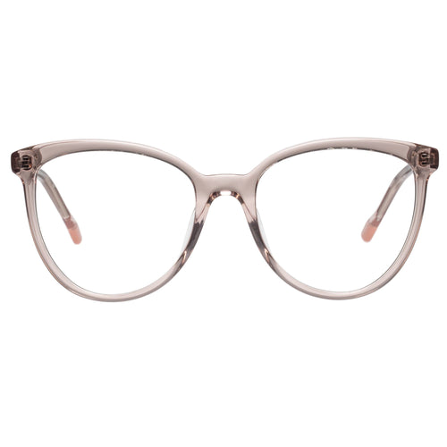 Le Specs Piece Of Pizzazz Womens Tan Cat-Eye Eyeglass Frames