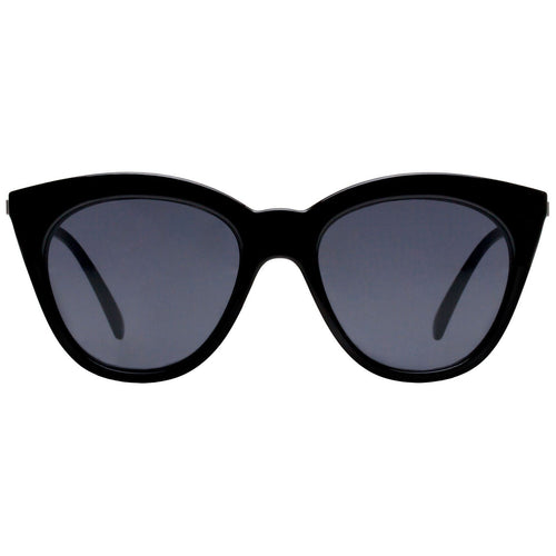 Le Specs Halfmoon Magic Womens Black Cat-Eye Sunglasses