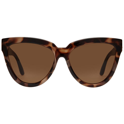Le Specs Liar Lair Womens Tort Cat-Eye Sunglasses