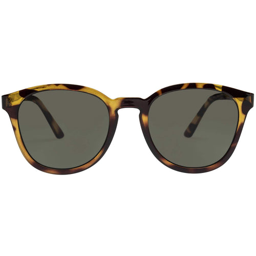 Le Specs Renegade Mens Tort Modern Rectangle Sunglasses