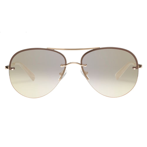 Le Specs Female Panarea  Gold Aviator Sunglasses