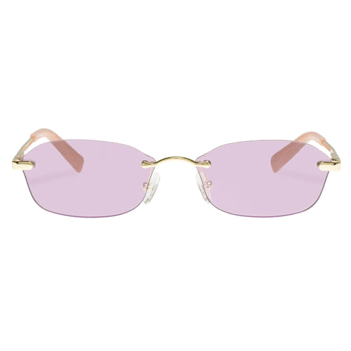 Le Specs Female Adolfo  Gold Oval Sunglasses