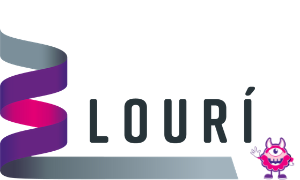Louri Logo with Huck, the monster