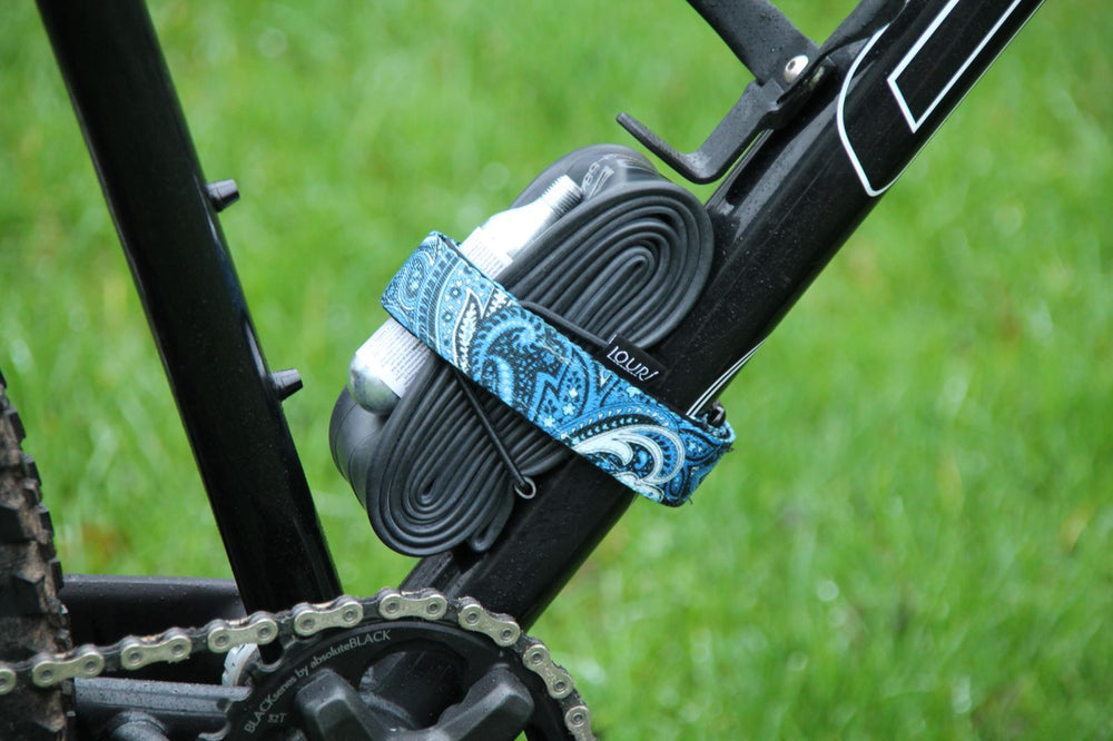 mtb strap frame paisly