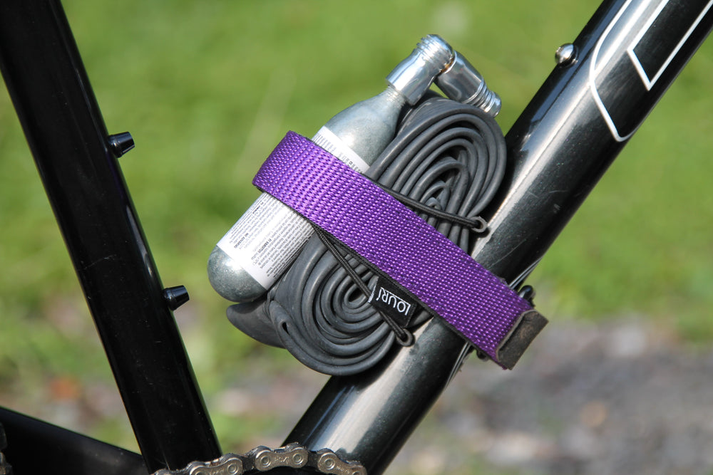 Purple velcro inner tube strap