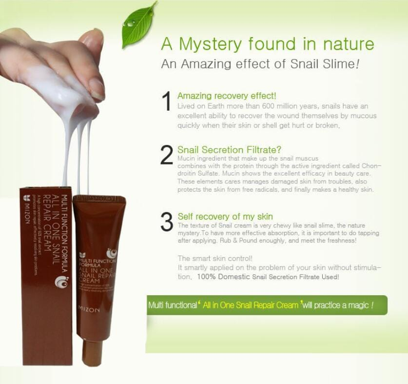 MIZON All In One Snail Repair Cream Tube 35ml / Anti-wrinkle ...
