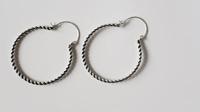 Twisted Silver Earrings