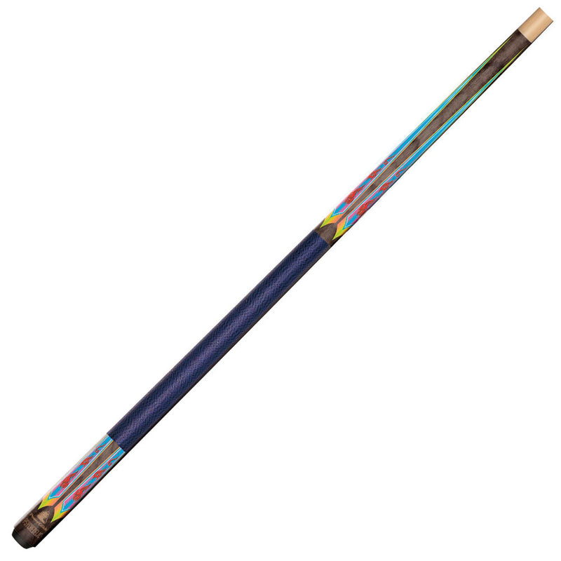 Powerglide Psychedelic Pool Cue - Tip Size 10mm