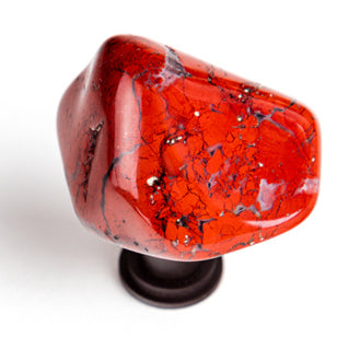Brecciated Red Jasper Stone Knob