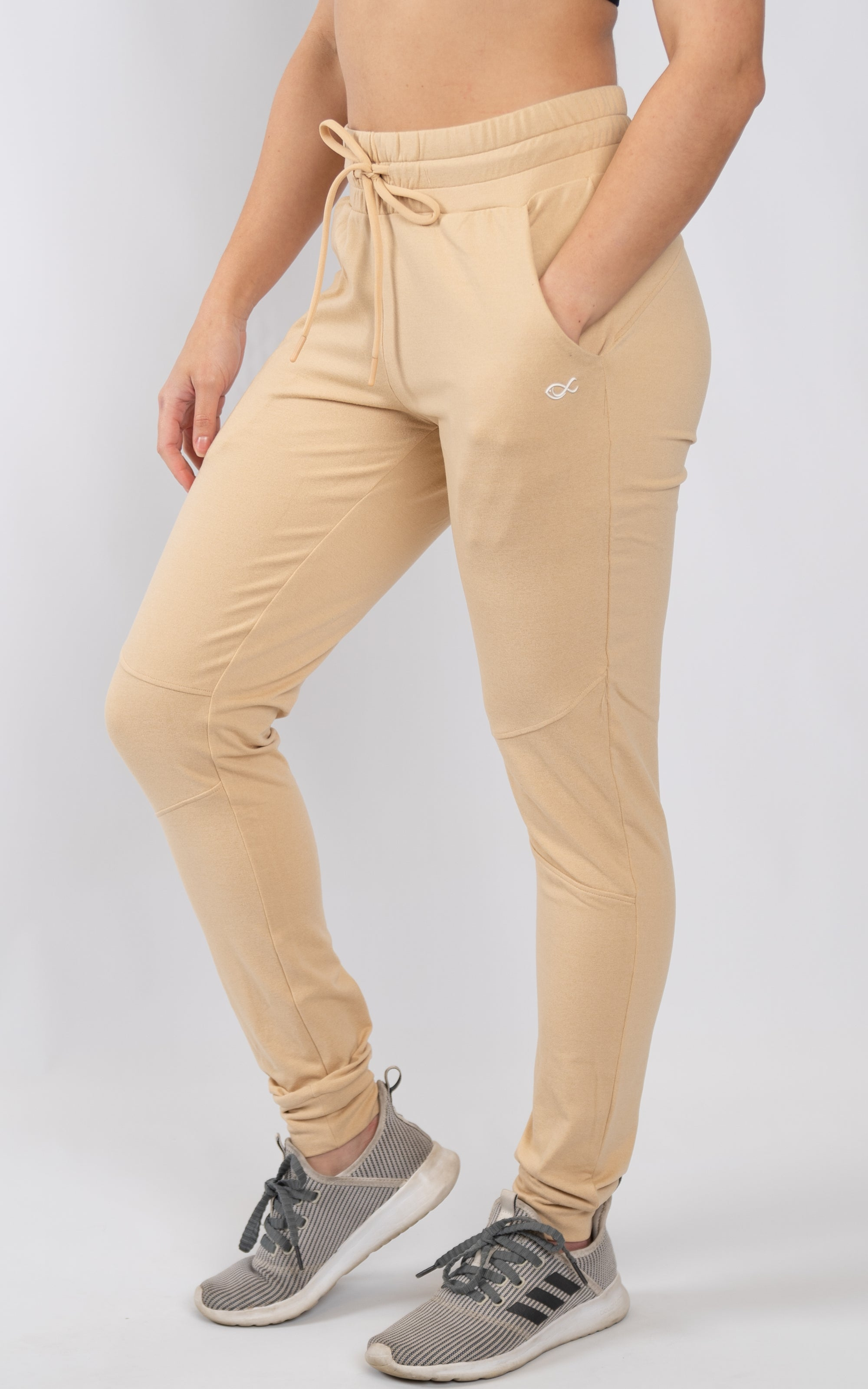 Women's Premium Joggers in Almond Buff