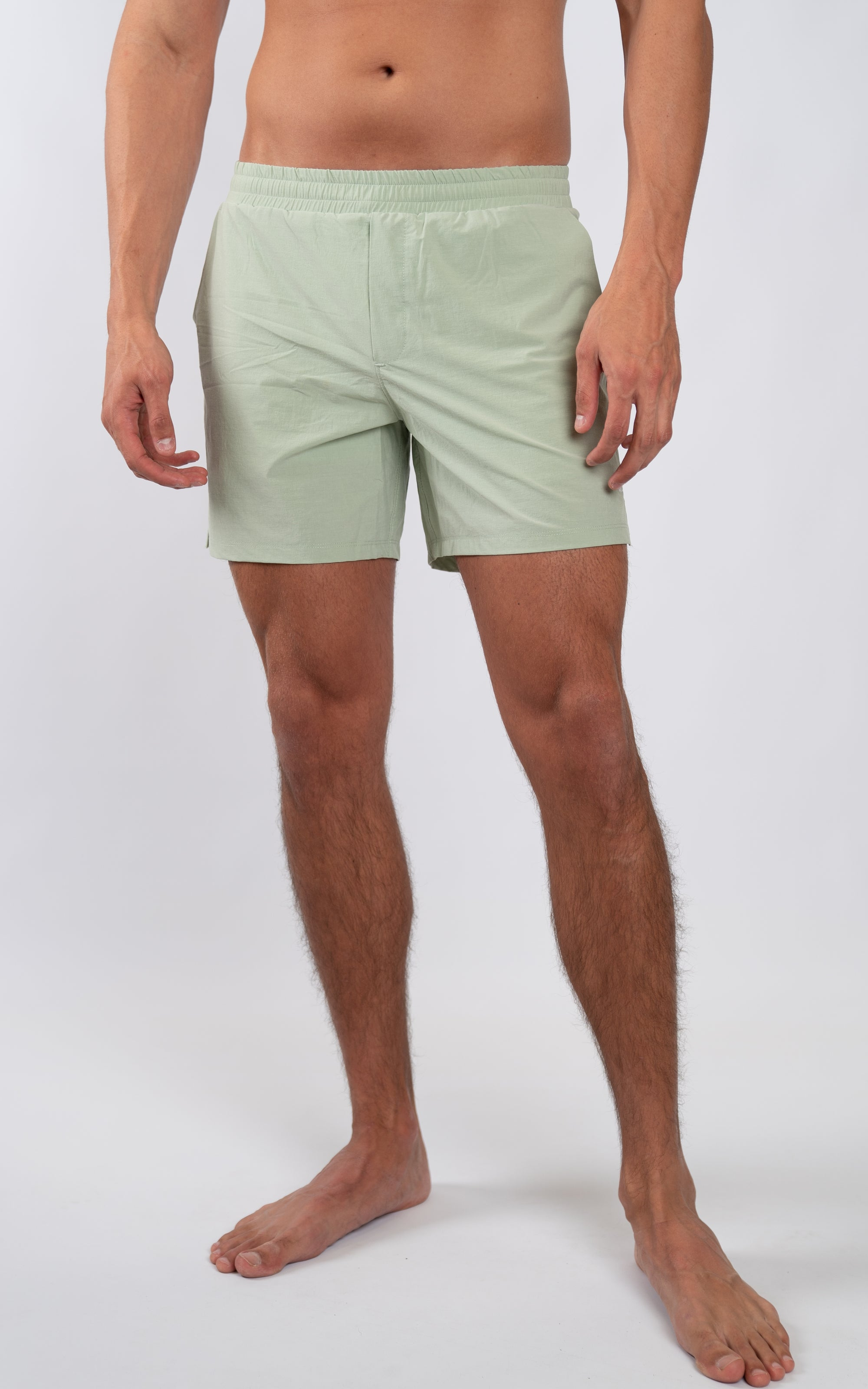 "Coastal Crossover Swim Shorts 5.5"" in Laurel Green - Southern Athletica"