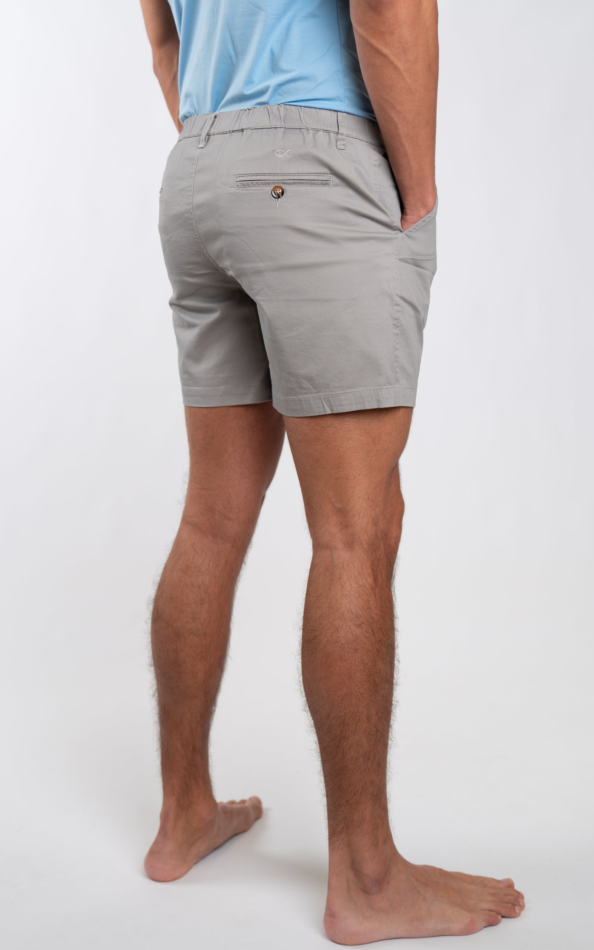 "Casual Stretch Shorts 5"" in Grey - Southern Athletica"