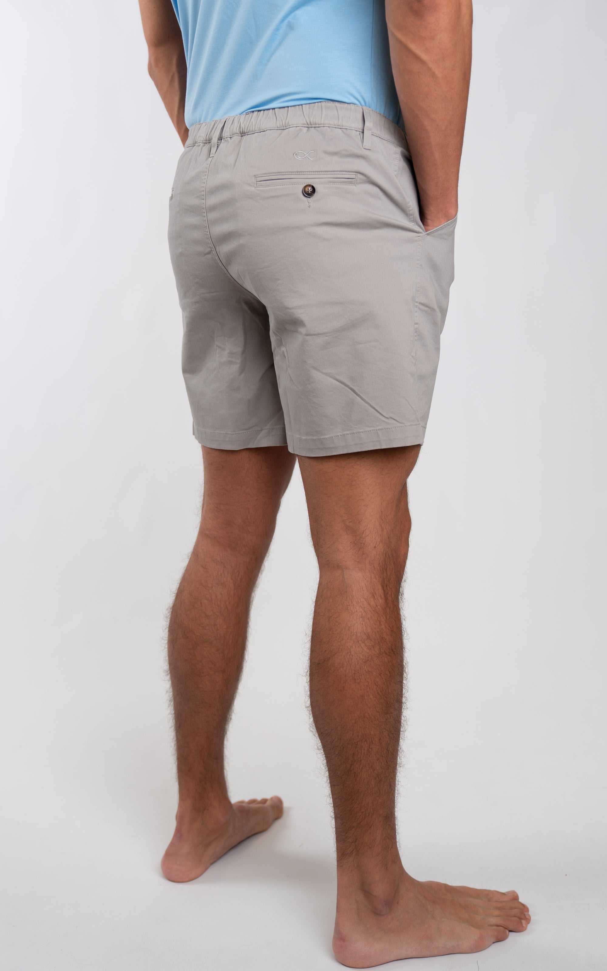 "Casual Stretch Shorts 7"" in Grey - Southern Athletica"