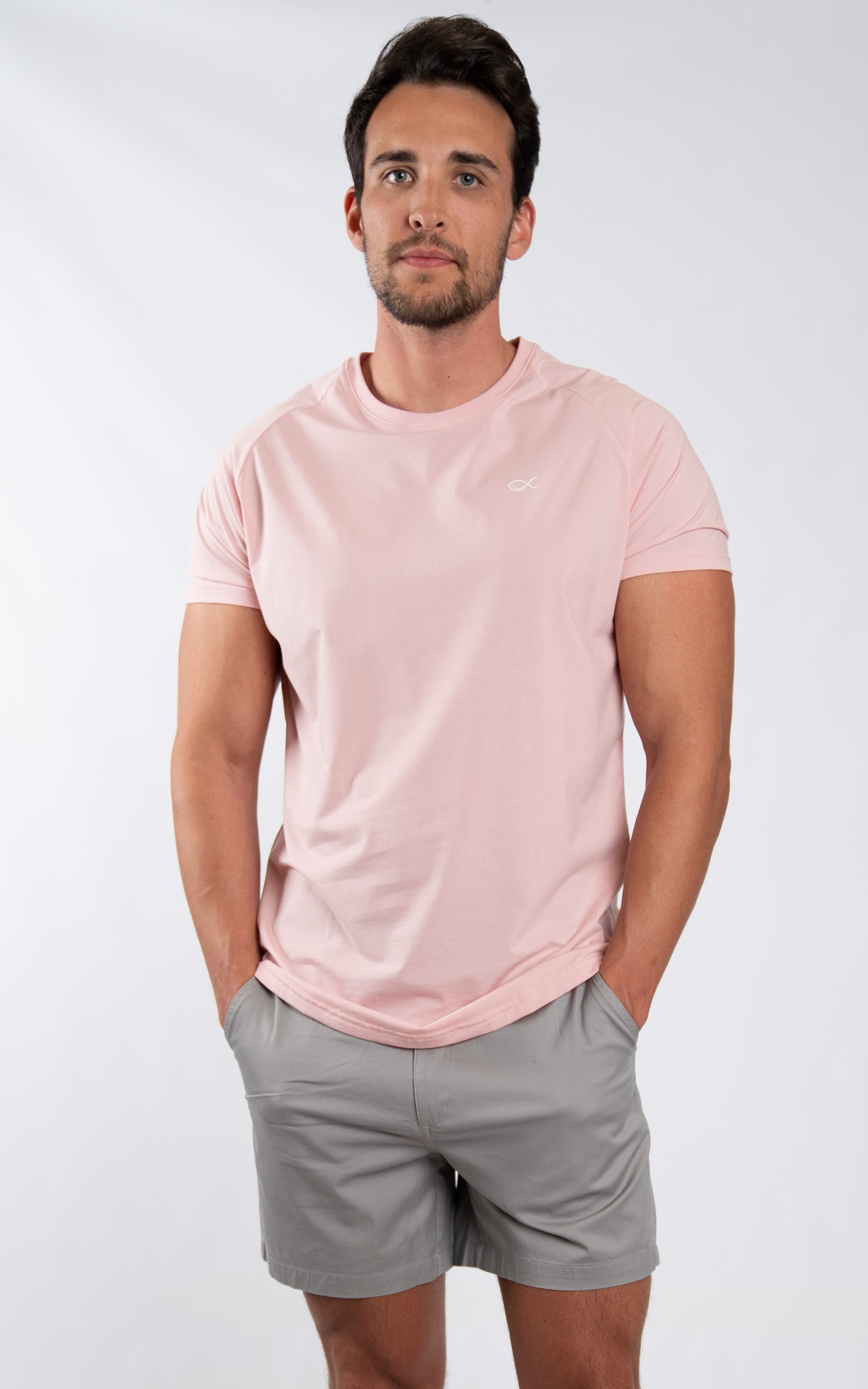 Men's Comfort Tee in Potpourri Pink - Southern Athletica