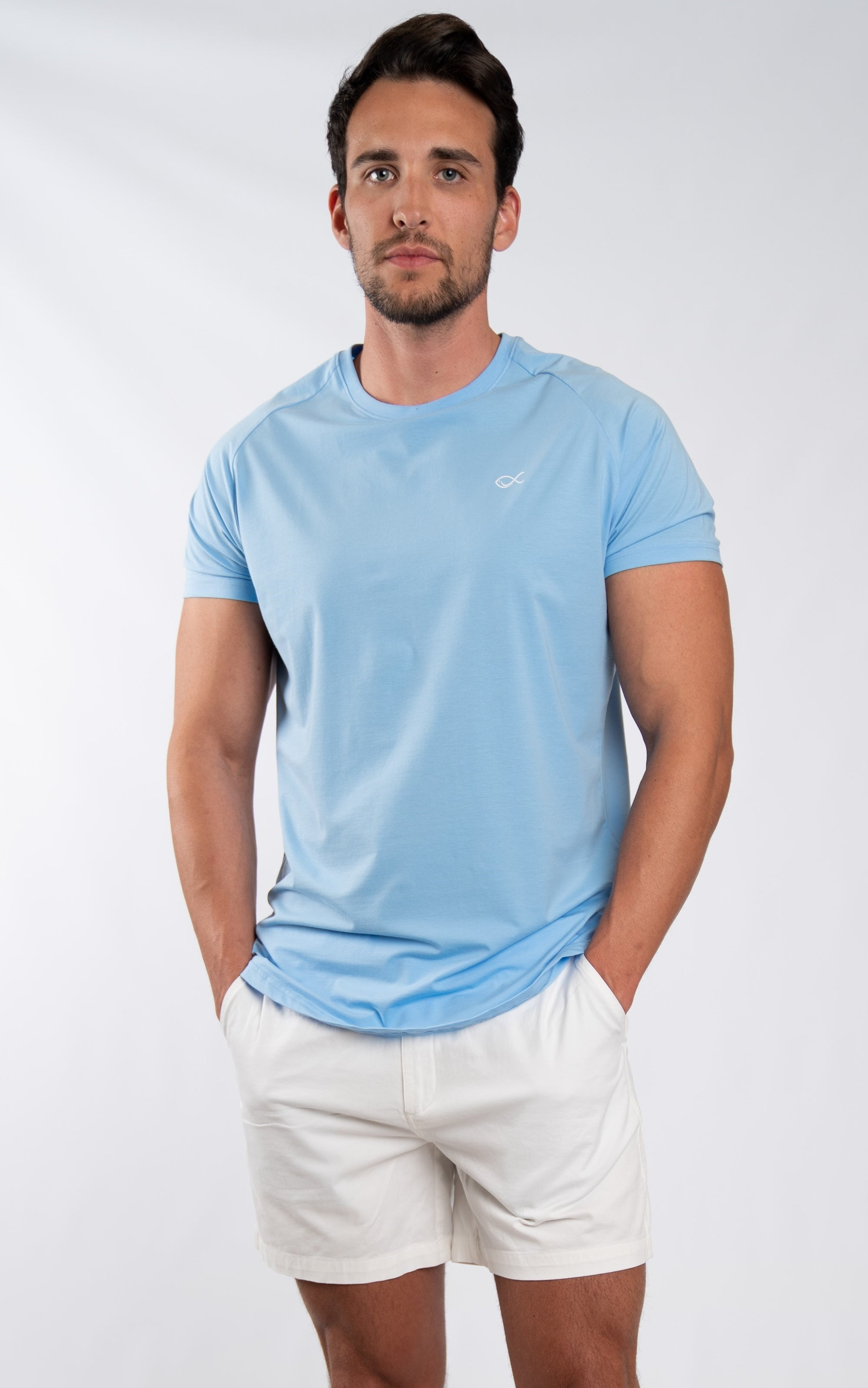 Men's Comfort Tee in Airy Blue - Southern Athletica