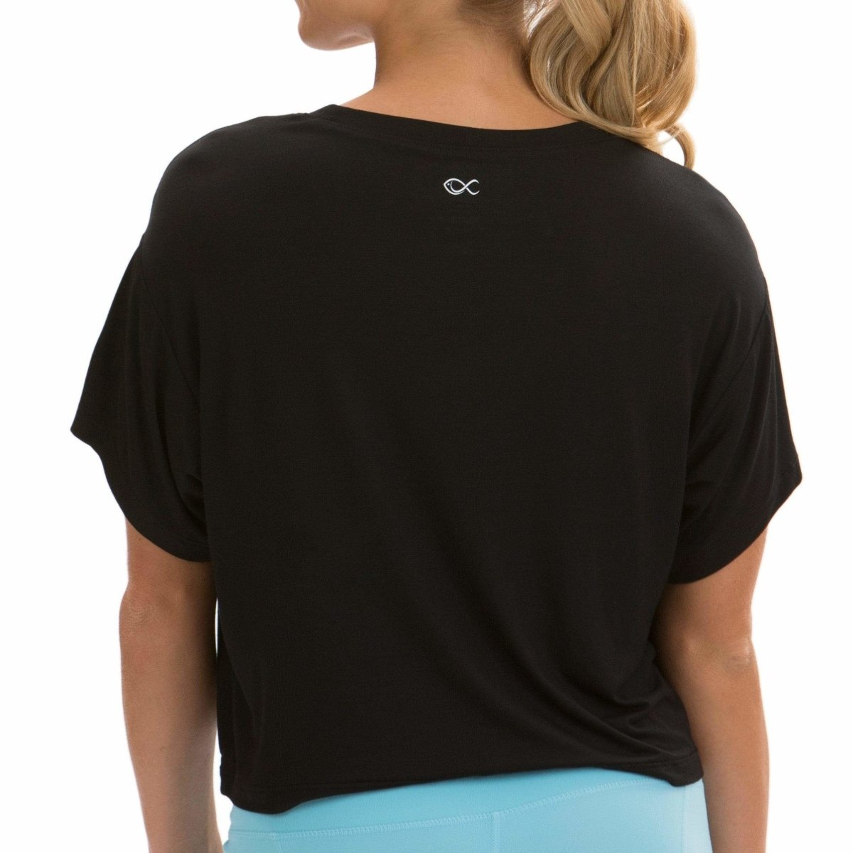 Loose-fit Crop Top in Black - Southern Athletica