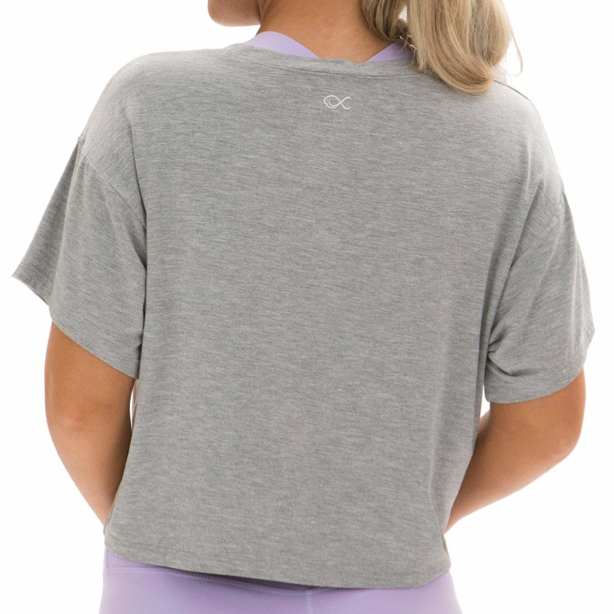 Loose-fit Crop Top in Grey - Southern Athletica