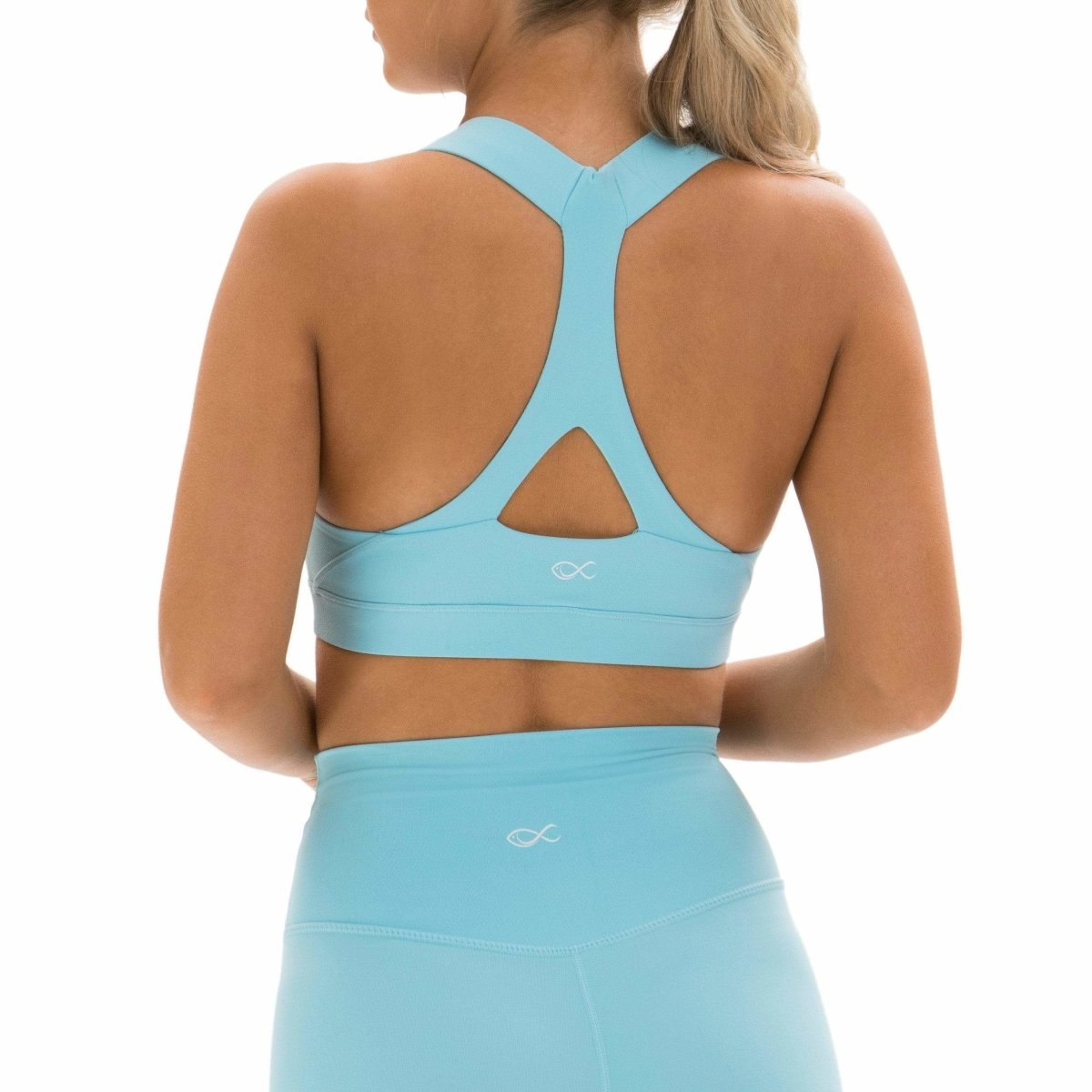 Y-Not Bra in Blue Topaz - Southern Athletica